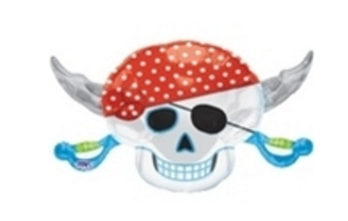 Pirate Party Skull SuperShape Foil Balloon