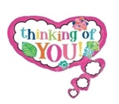 Colorful Thinking of You SuperShape Foil Balloon