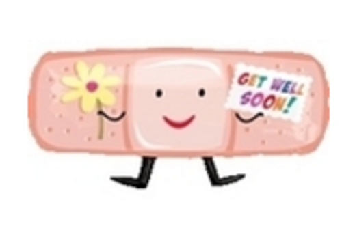 Get Well Band-Aid SuperShape Foil Balloon