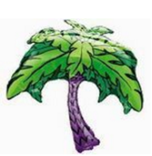Palm Tree SuperShape Foil Balloon