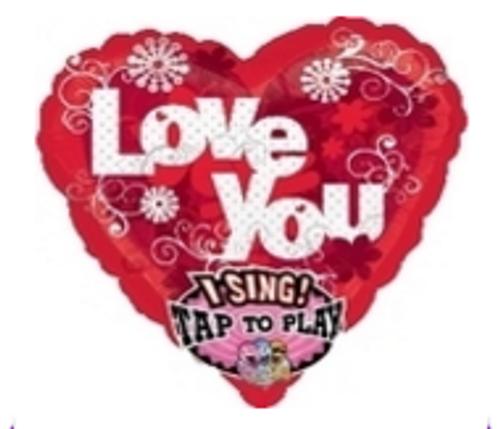 Sweet, Sweet Love Sing-A-Tune Foil Balloon