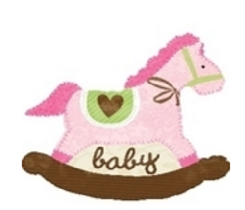 Baby Pink Rocking Horse SuperShape Foil Balloon