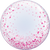 Pink Confetti Dots Bubble Balloon
