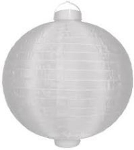 Paper Lantern with Light - White