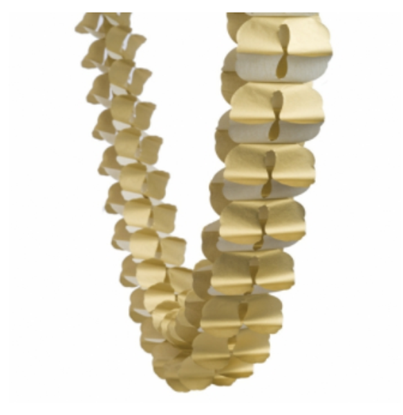 Honeycomb Garland - Metallic Gold