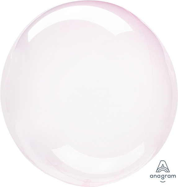 Crystal Clearz Light Pink Round Balloon