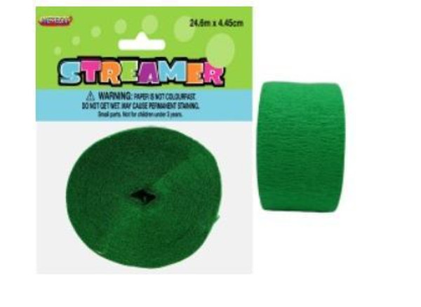 Streamer Crepe Emerald Green