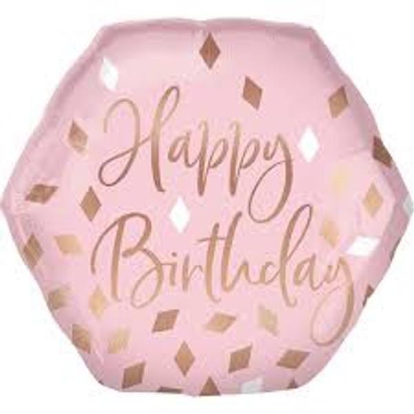 Blush Birthday SuperShape Foil Balloon