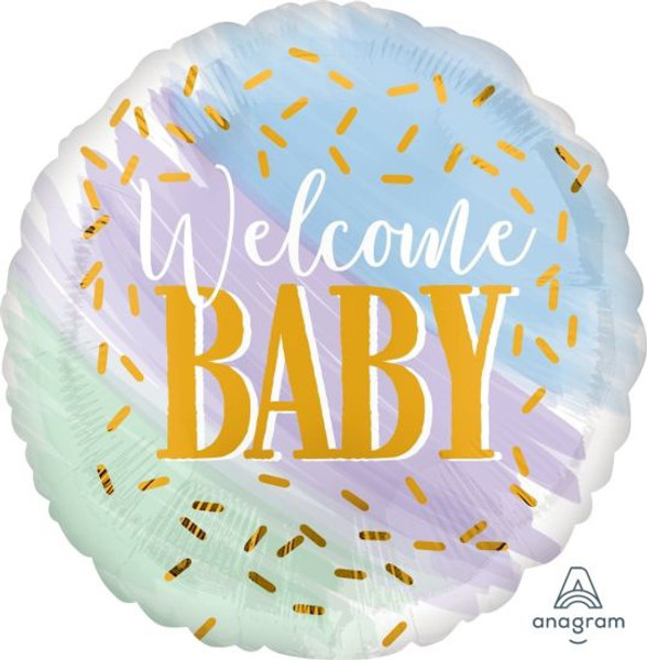 Watercolour Welcome Baby