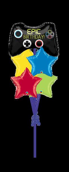 Epic Birthday Star Balloon Bouquet