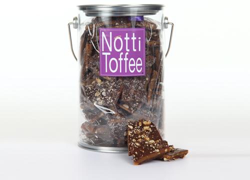 Notti Toffee Dark Chocolate Pecan 1 Pound Pail