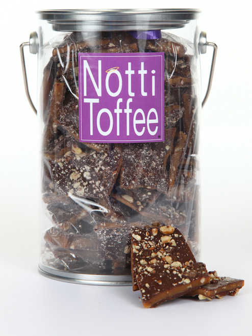 Notti Toffee Dark Chocolate Pecan 1 Pound Pail