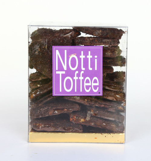 Dark Chocolate Pecan Coffee Notti Toffee 1 LB Box