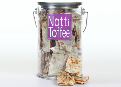 Notti Toffee White Chocolate Pecan 1 Pound Pail