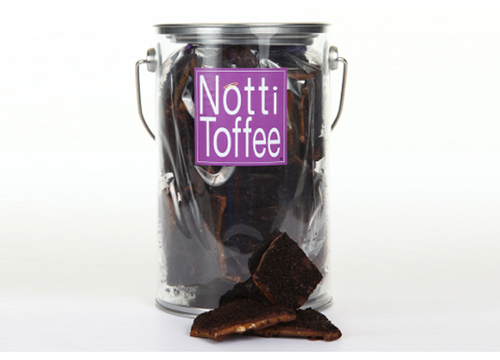 Notti Toffee Dark Chocolate Pecan Coffee 1 Pound Pail