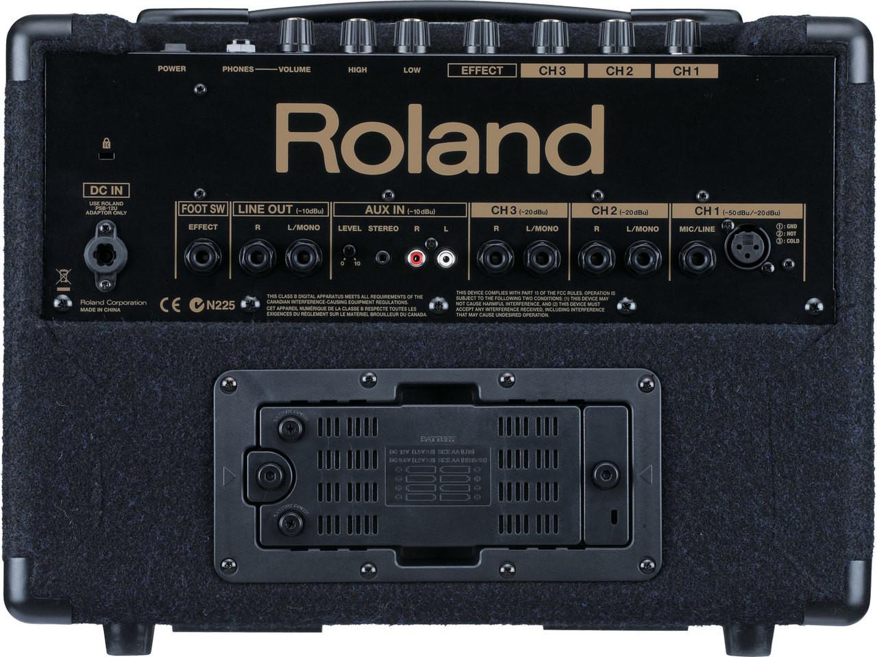 Roland KC-110-Keyboard Amplifier , Rear View