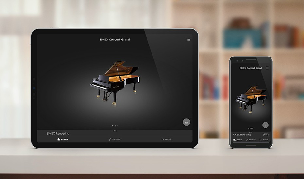 PianoRemote app The CA79's redesigned communication standard allows the user-friendly touchscreen interface to also be accessed via the dedicated PianoRemote app for iOS and supported Android devices. The app connects to the piano wirelessly via the Concert Artists' integrated Bluetooth, providing an effortless way to change sounds, or enjoy the vast array of built-in music content from the comfort of an armchair.