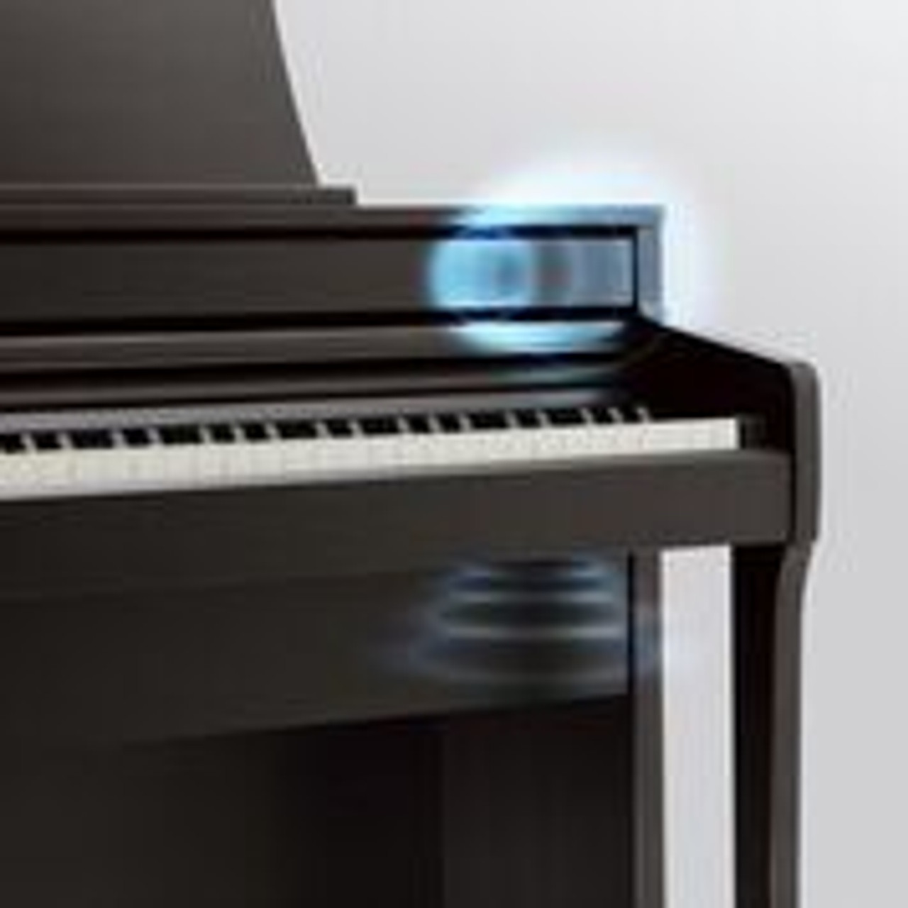 Piano sound: Celebrated concert grand pianos, reproduced using high-performance technologies  The rich, expressive sound of Kawai's celebrated concert grand pianos are at the heart of the new CA49, with both the flagship Shigeru Kawai SK-EX and highly-acclaimed Kawai EX instruments lovingly recorded and faithfully produced using full 88-key stereo sampling. With two distinctive Kawai concert grand pianos and a traditional upright readily available, players can explore a variety of different piano sounds, and enjoy the contrasting properties of each. This latest Concert Artist instrument utilises Kawai's advanced Progressive Harmonic Imaging technology, with algorithms that reproduce how an acoustic piano's tonal character changes as dynamics increase. This ensures seamless expression when playing from gentle pianissimo to thunderous fortissimo, without sudden changes in sound, while impressive polyphony specifications allow players to perform complicated pieces without held notes 'dropping out' unexpectedly.    These realistic piano sounds are delivered using high-performance sound hardware developed in partnership with Onkyo, one of Japan's leading audio equipment manufacturers. This technology ensures a faithful reproduction of the acoustic source, delivering crystal clear piano sounds with low-noise and minimal distortion, while the powerful 4-speaker delivery systems utilised by each model reproduce the sound field of a grand piano.