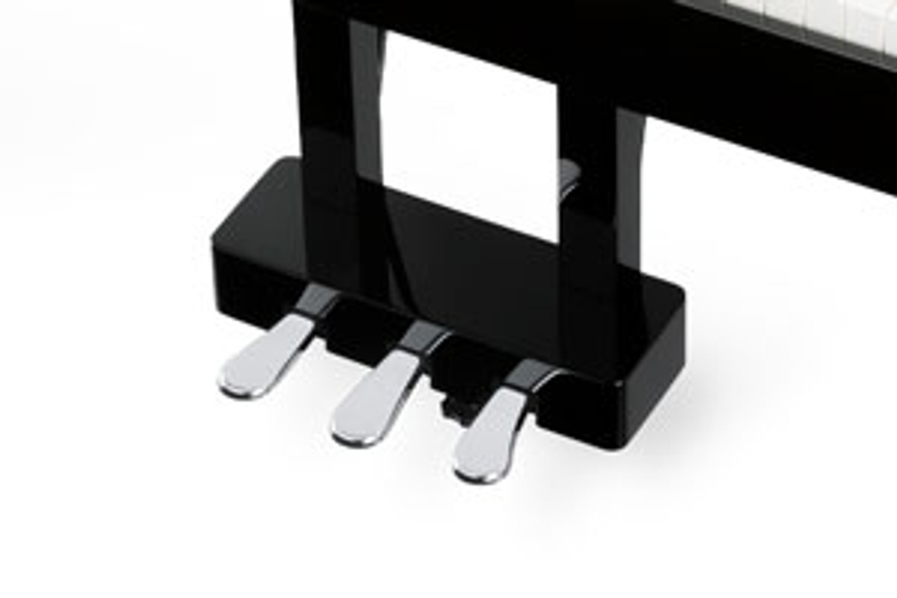 GRAND FEEL PEDAL SYSTEM The DG30 features three pedals – soft, sostenuto, and damper (with half-damper capability). The new Grand Feel Pedal System accurately replicates the position and individual weighting of the damper, soft, and sostenuto pedals of a Shigeru Kawai SK-EX concert grand piano to further enhance the DG30's acoustic piano-like authenticity.