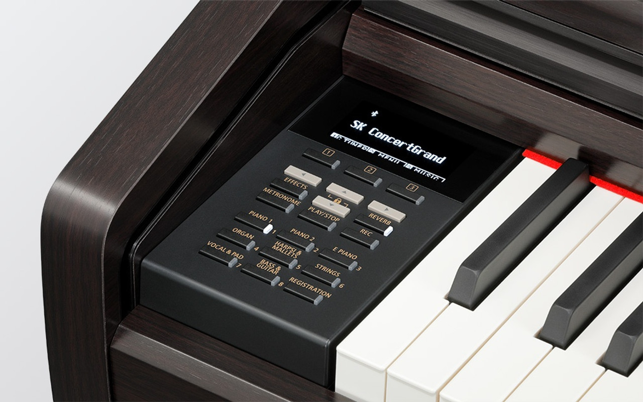 Powerful features Wireless Bluetooth® connectivity, USB audio record/playback, Dual, Split, and Four Hands keyboard modes, and a rich assortment of instrumental voices add greater variety to players' performances, while the convenient metronome function and integrated lessons ensure that regular practise is both productive and engaging for aspiring pianists.