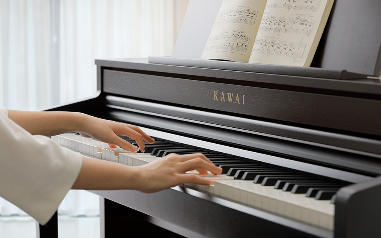 Grand Feel design: character and purpose The first thing that strikes the CA59 player is the instrument's flat fascia and tall upper board, giving the impression of a traditional grand piano, and immediately elevating the musical aspirations of the performer.