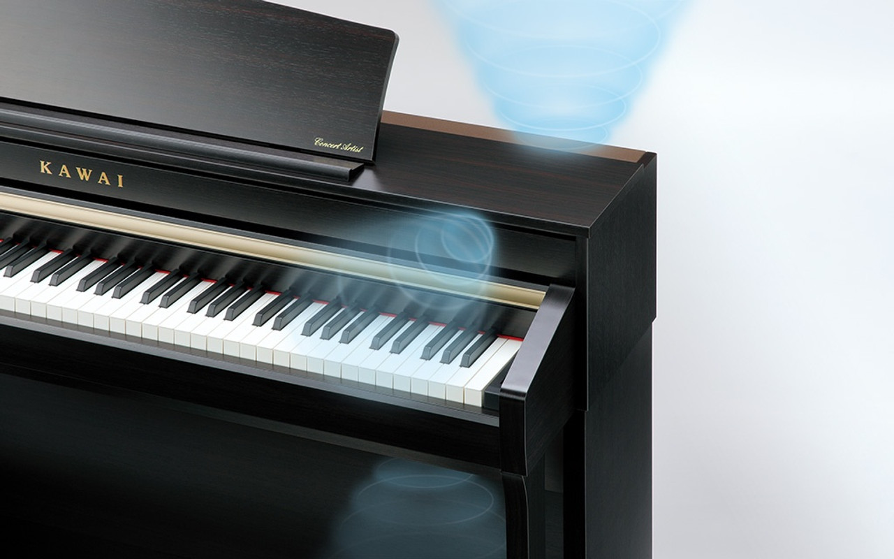 6-speaker sound system With cutting-edge technologies like 1-bit processing, dual DAC signal conversion, and DIRDC filtering, CA79's optimised power amplifiers reproduce the Shigeru Kawai grand piano sound with stunning clarity, richness, and power.