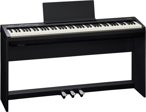 Roland FP30 with optional stand and pedal assembly