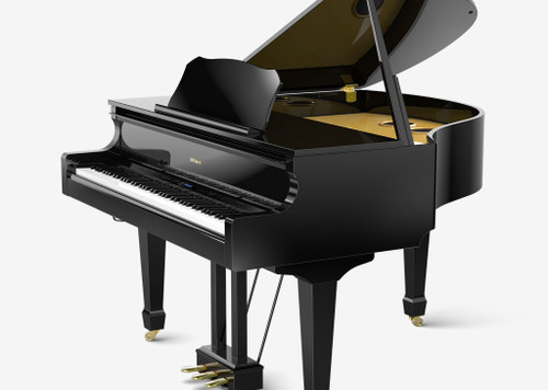 Light-Weight and Space-Saving DesignAlthough the GP609 is light-weight (325 lbs 5oz/148 kg) and compact (59-1/8 inches/ 1,501 mm), its grand piano aesthetic is unmistakable. It's nearly half the weight of an acoustic grand piano too, and much easier to install or move.