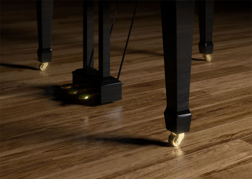 CastersBuilt-in casters help you move the piano around and find the perfect position, and the space-saving footprint means you can play a grand piano even where there is limited space – whether at home or at a venue.