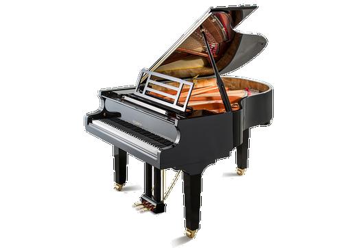 Feurich 179 Dynamic II  Grand PIano in Black Polished - Brass