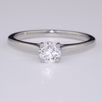 Platinum D colour diamond solitaire ring