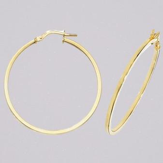 9ct yellow gold 30mm hoop earrings ER11568