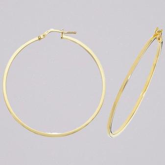 9ct yellow gold 40mm hoop earrings ER11569