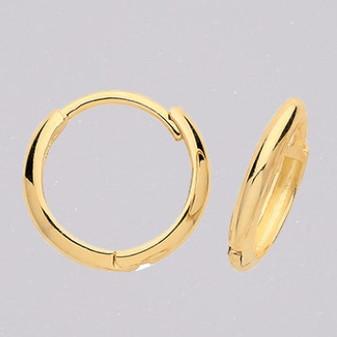 9ct yellow gold 10mm hoop earrings ER11673