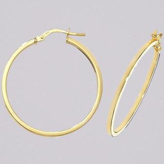 9ct yellow gold hoop earrings ER11675