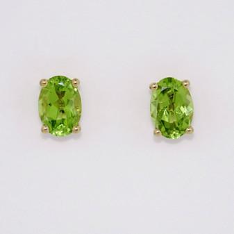 9ct yellow gold peridot stud earrings ER11249