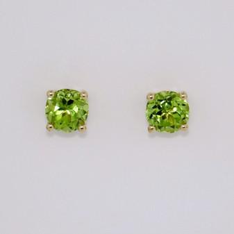 9ct yellow gold peridot stud earrings ER11451