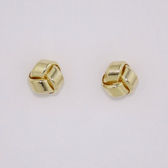9ct yellow gold small knot earrings ER11585