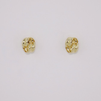 9ct Yellow Gold Knot Stud Earrings ER11590