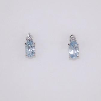 Aquamarine & Diamond Earrings ER11307