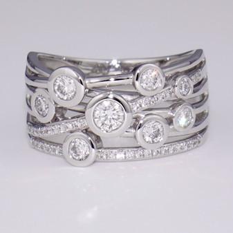 Platinum diamond bubble ring