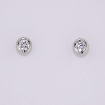 18ct white gold diamond solitaire earrings ER11338