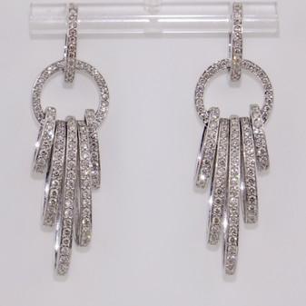 Diamond Hoop Earrings ER9478