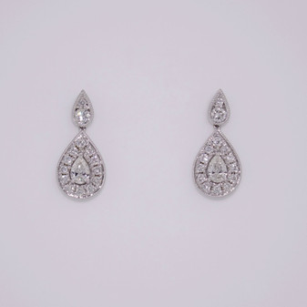 Diamond Cluster Drop Earrings ER11196
