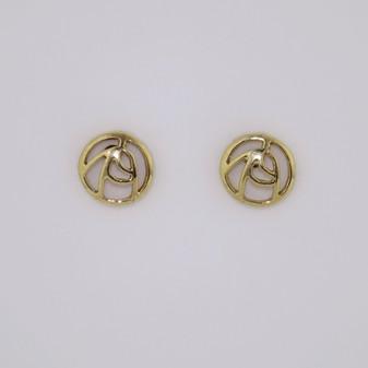 9ct Gold Rose Pattern Earrings ER11441