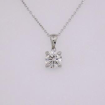 platinum diamond solitaire pendant PE5219