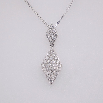18ct white gold diamond pendant PE4628