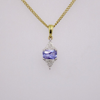 18ct gold sapphire and diamond pendant PE4089