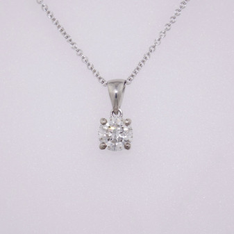 18ct white gold diamond solitaire pendant PE5027