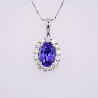 Tanzanite & Diamond Pendant PE4307